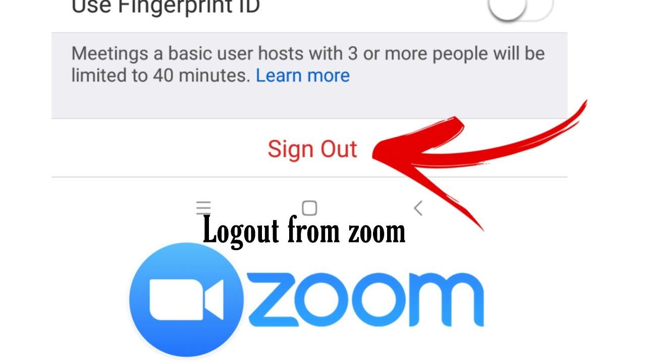 ログアウト zoom