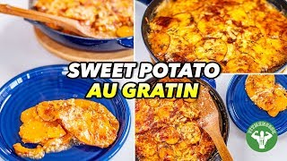 Lighter Sweet Potato Au Gratin