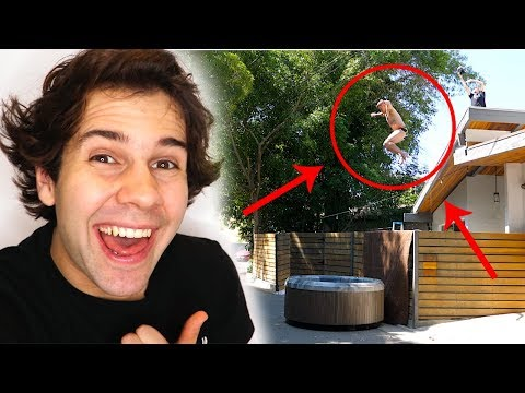 steve-o-jumps-off-roof-into-hot-tub!!
