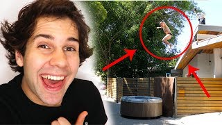 Download STEVE-O JUMPS OFF ROOF INTO HOT TUB!! Mp3 and Videos