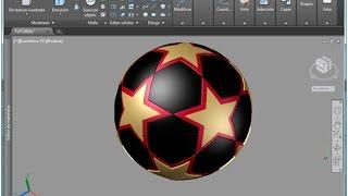 AutoCAD 3D Champions League Soccer Ball Modeling Tutorial ALINEAR 3D Part 1