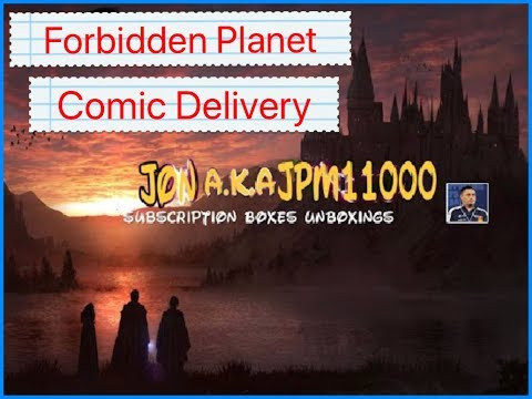 Forbidden planet comic delivery X1