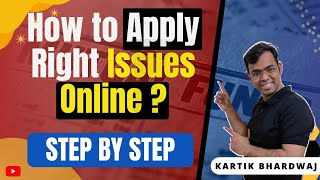 How to apply riġht issue in Zerodha | RPP infra Right issues | Praxis Home RE | Asian Granito RE
