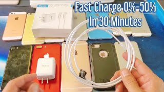 Gambar cover 0%-50% in 30 Minutes! Fast Charge iPhone 8/X/XS/XR | Quntis Apple Certified Charger