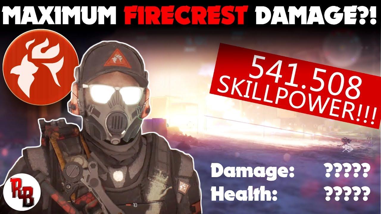 The Division I Maximum Firecrest Damage