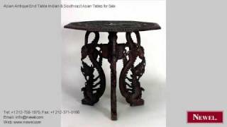 Asian Antique End Table Indian & Southeast Asian Tables