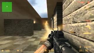 играю в Counter Strike Source - Modern Warfare 3 (боты эксперты)
