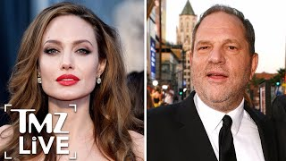 angelina jolie harvey weinstein came on to me   tmz live