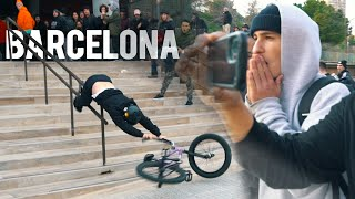 BARCELONA STREET BMX JAM TURNS INTO A RIOT!