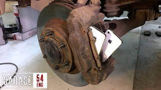 Replacing brake pads with iPhones
