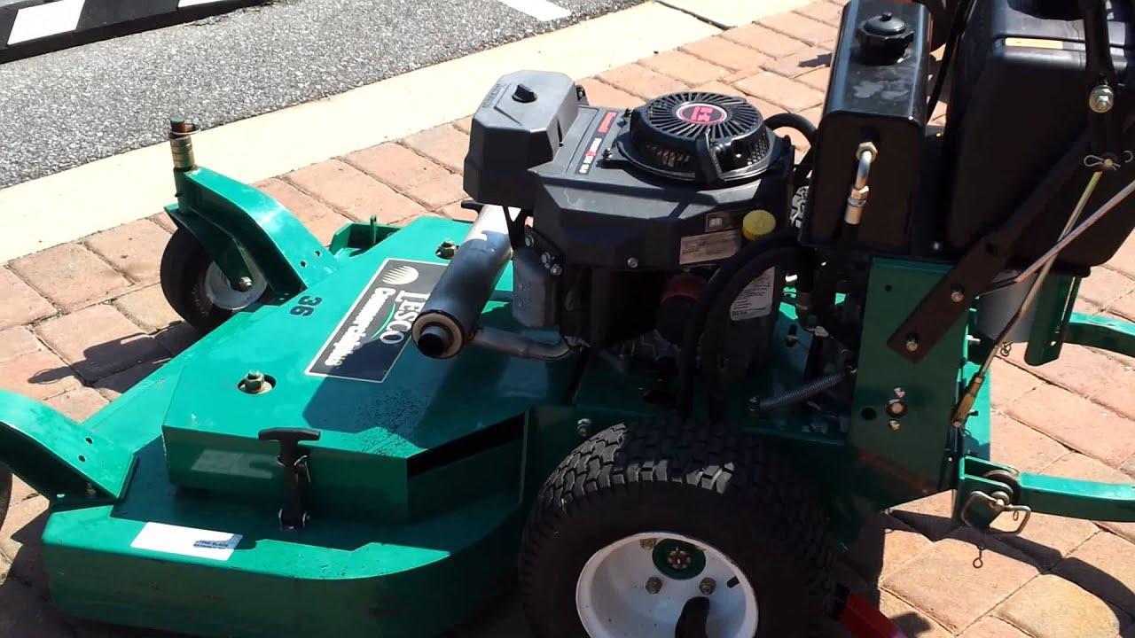 "Husqvarna Lawn Mower Parts >> Lesco 36"" Mower Used - YouTube"