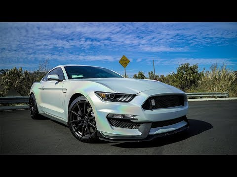 MUSTANG GT350 in the NEWEST CRAZY WRAP COLOR...SATIN FLIP GHOST PEARL