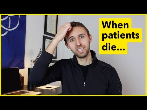 What does a nurse do when a patient is dying?