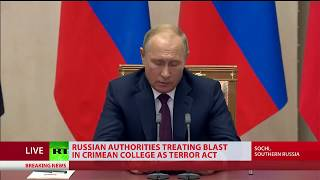 Putin on Crimea attack: 'Tragic event, we now know it's a crime, motives being carefully studied'