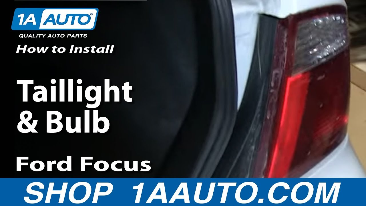 How To Replace Tail Light 05 07 Ford Focus