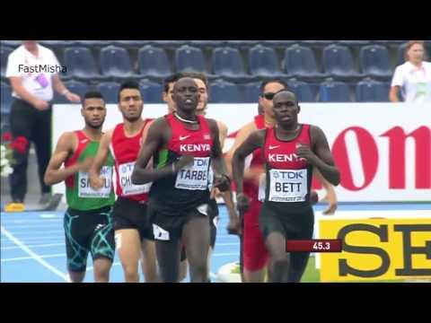 12 Men's 800m Final   IAAF World U20 Championships 2016 in Bydgoszcz