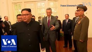 North Korea's Kim meets Singapore PM Lee Ahead of Summit