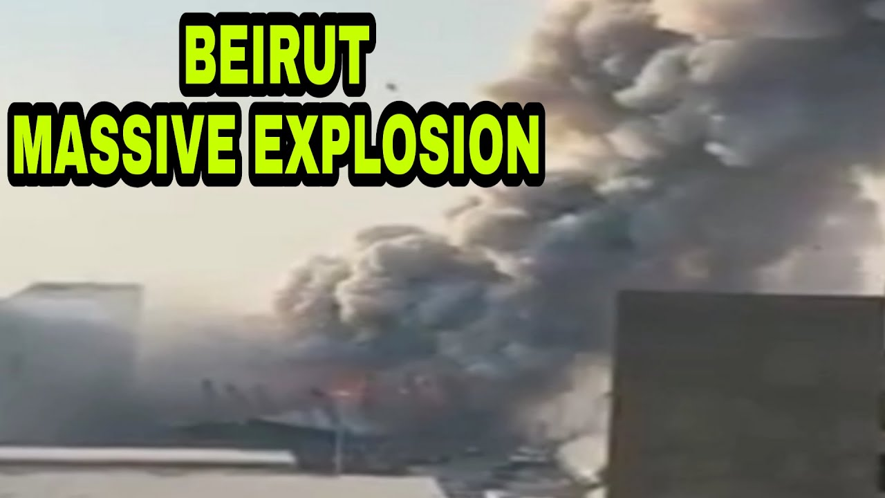 BEIRUT DEADLY MASSIVE EXPLOSION!! // ACTUAL FOOTAGE BEFORE THE DEADLY EXPLOSION IN BEIRUT LEBANON