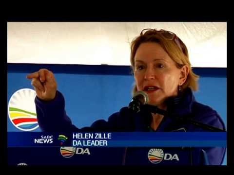 DA leader Helen Zille hit the campaign trail today.