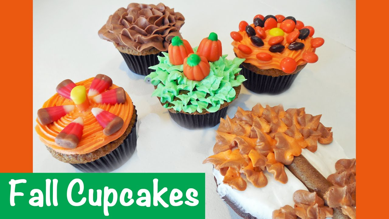 Image result for fall themed cupcakes