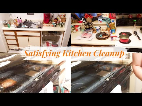 Satisfying Kitchen Cleanup | Stove Top Deep Clean