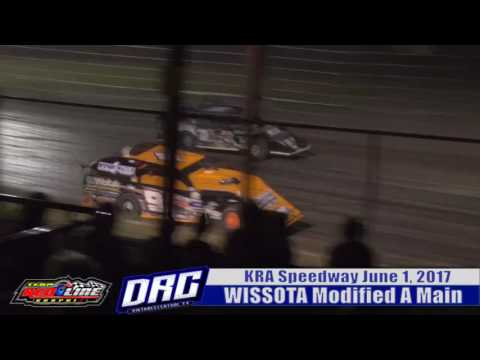 KRA Speedway 6/1/17 WISSOTA Modified Highlight