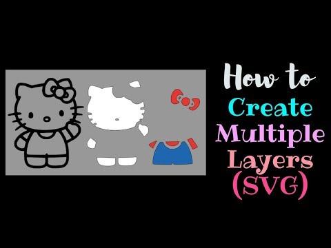 How to create Multiple Layers Multiple Colors | Cricut Design Space Beginner | Contour