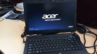 How to boot laptop from pendrive Acer One 14 Z422