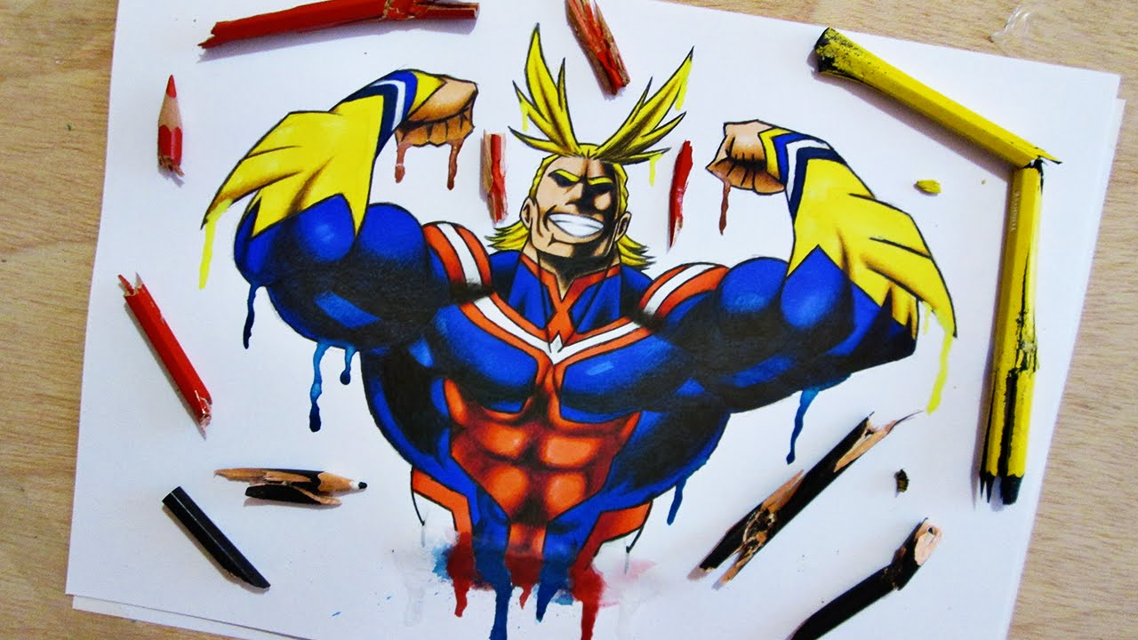 Speed Drawing All Might My Hero Academia Youtube