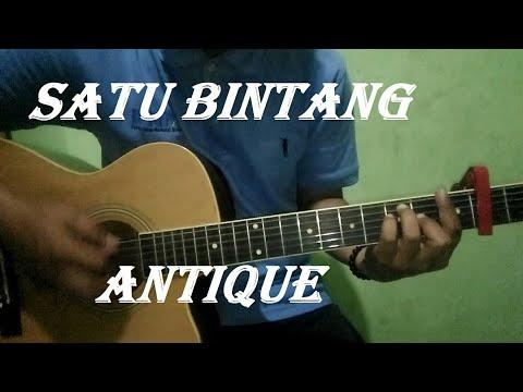 """Cover Gitar Akustik Lirik Beserta Cord """"Satu Bintang"""" Original Song By Antique"""