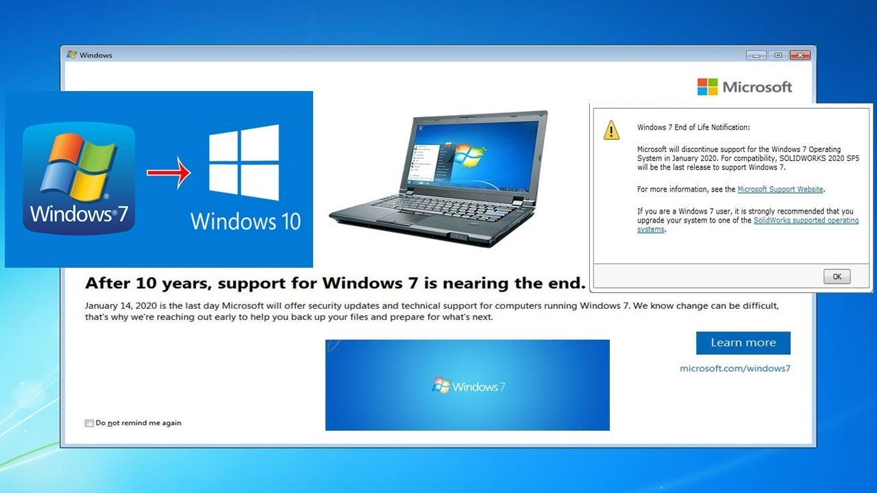 On Day Windows 7 Launched I Installed >> Support For Windows 7 Ends By Jan 2020 Upgrade To Windows 10