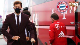 LIVE 🔴 Team arrival at the stadium   FC Bayern vs. FC Sevilla  UEFA Super Cup