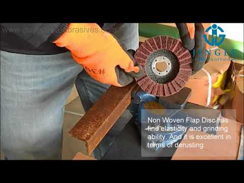 Non Woven Flap Disc used for paint removal and derusting
