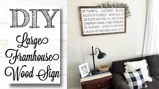 DIY Large Farmhouse Framed Wood Sign