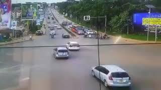 Nasty Accident At Kiira Road Traffic lights