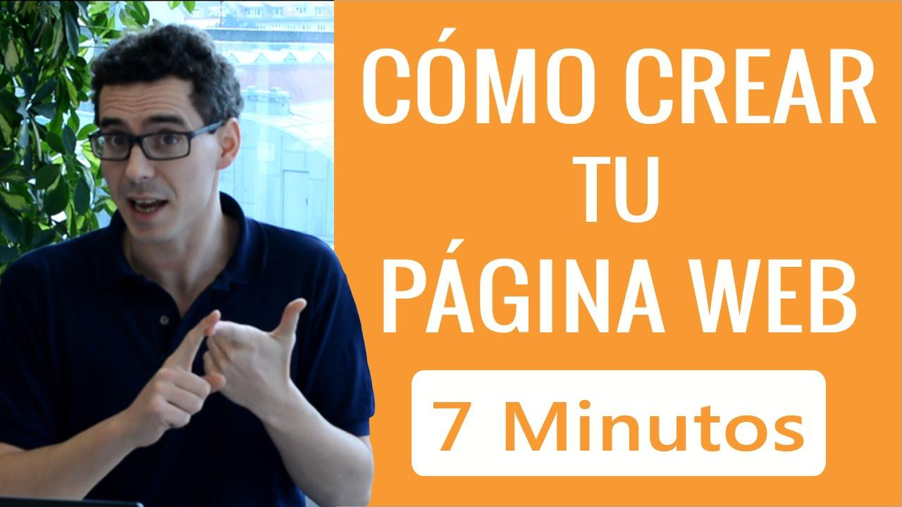 C mo crear una p gina web gratis en 7 minutos youtube for Paginas para hacer planos gratis