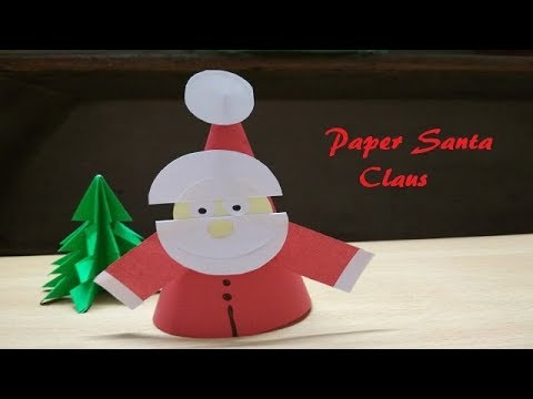 DIY-Paper Santa Claus| Easy craft for Kids| Paper Craft