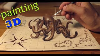 Parov Stelar feat. AronChupa /3D Speed Drawing (Lyric Video) Grandpa's Groove