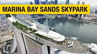 The View from the Top of the Marina Bay Sands SkyPark Observation Deck
