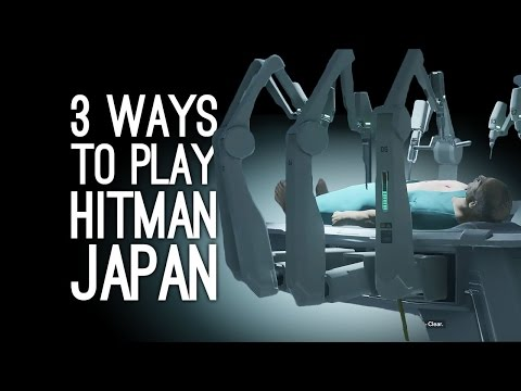 Hitman Gameplay: Japan - 3 Ways to Play (Poison Sushi, AI, Defibrillator)