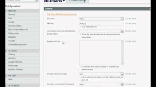 Configuring MailChimp module in Magento (Private Sales Script)