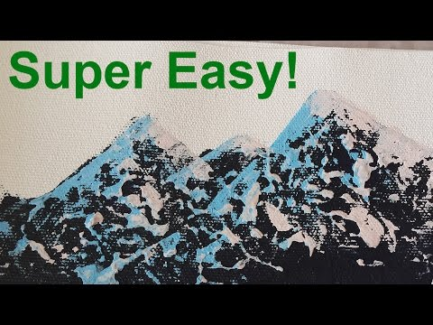 Super Simple Trick To Paint Realistic Mountain Ranges - Acrylic Painting Tutorial