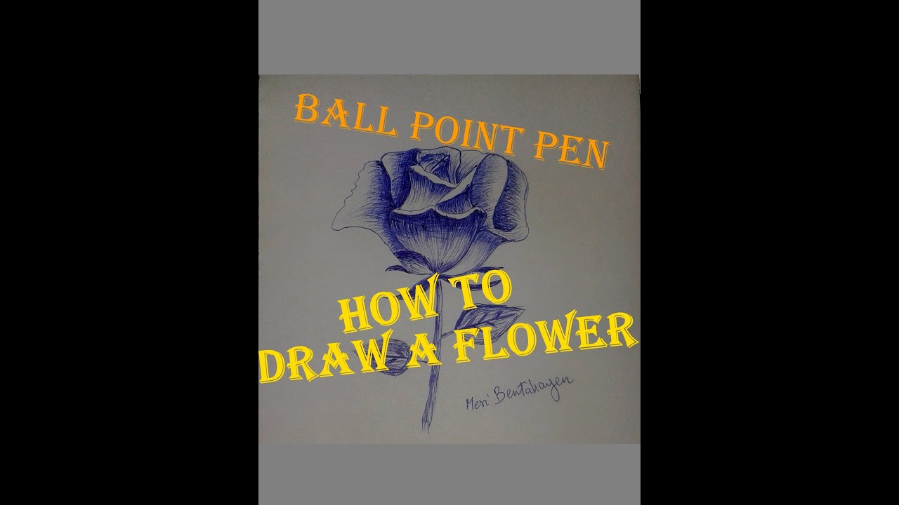 How To Draw A Flower & Shading With A Ballpoint