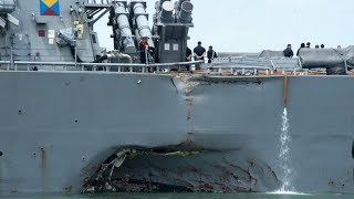 10 US Sailors missing after serious collision in Southeast Asian waters HD