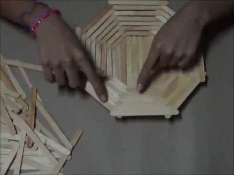 Canasta de madera facil util pr ctica youtube - Hacer manualidades con madera ...