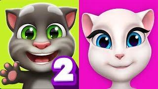 My Talking Tom 2 vs My Talking Angela Gameplay