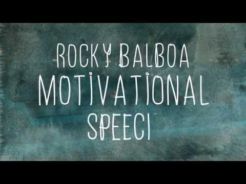 Rocky Balboa – Motivational speech kinetic typography