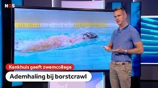 Hoe haal je adem tijdens de borstcrawl?   Kenkhuis geeft zwemcollege