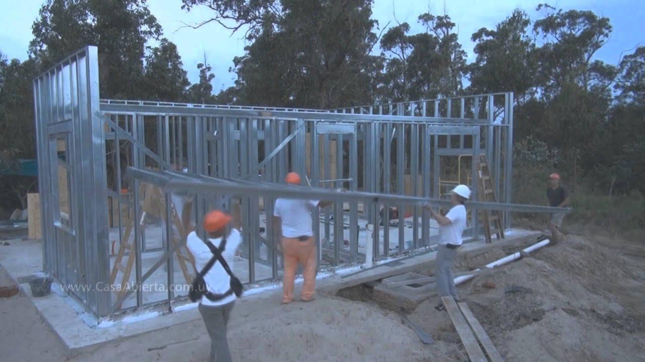 Una vivienda en 30 d as con steel framing youtube - Construir una casa precio ...
