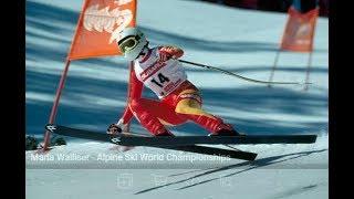 Maria Walliser downhill gold (WCH Crans Montana 1987)